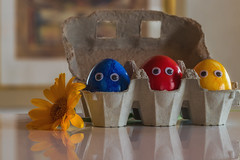 15/52 It's the little things .... (FocusPocus Photography) Tags: ostern easter ostereier eastereggs bunt colourful blume flower gerbera augen froheostern happyeaster googlyeyes