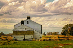Old Farm House (vodophoto's images) Tags: farm old clouds nj hdr