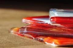 Glaze glass coasters / Ondrzetters (wilma HW61) Tags: glaze glass macromondays hmm mm glas gelazuurd macro depthoffield focus wilmahw61 wilmawesterhoud nederland niederlande netherlands nikond90 holland holanda paísesbajos paesibassi paysbas europa europe indoor onderzetters coasters sousverres sottobicchieri untersetzer