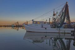 _40A6648 (ChefeGrande) Tags: texas gulfofmexico aransasbay marina fulton reflection seashore seaside sea rockport shrimpboat net sunset serene coastal southtexas outdoor water bay