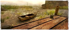Tales of a lonely boat (La Baroque (Laura) ️♡thnx for your visits️) Tags: sea water lavie ship boat pier dock secondlife texture postprocessing