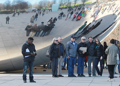 Group selfie (RPahre) Tags: cloudgate chicago reflections