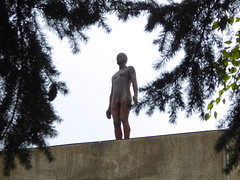 Antony Gormley Sculpture, UEA Library roof, Norwich, Norfolk (mira66) Tags: gwuk gormley statue sculpture uea library university roof norwich norfolk eastanglia
