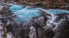 Blue River (Jerry Fryer) Tags: ice blue water winter nature river snow iceland bruarfoss arctic long exposure waterfall 5dmk2 canon leefilters