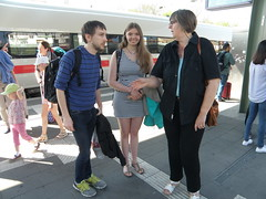 On the Station Platform (cessna152towser) Tags: martina gabriele
