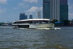 White Orchid River Cruise Boat on the Chao Phraya river in Bangkok, Thailand (UweBKK (α 77 on )) Tags: white orchid river cruise boat water chao phraya bangkok thailand southeast asia sony alpha 77 slt dslr