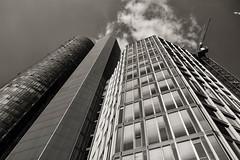 Frankfurt (mirko.borgmann) Tags: skyline hochhaus fassade black