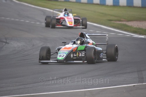 Zhuo Cao in British F4 Race Two during the BTCC Weekend at Donington Park 2017: Saturday, 15th April