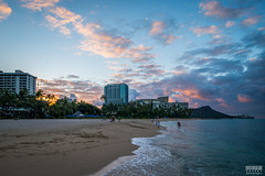 Morning Audience (davidgevert) Tags: d800 nikond800 nikon24mmf35pce nikonpce wideangle sunrise beachsunrise waikiki alamoana hawaii honolulu oahu beach clouds diamondhead ocean seascape travelphotography tiltshift davidgevert gevertphotography