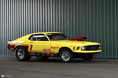 Ford Mustang (technodean2000) Tags: ford mustang yellow drag car santa pod uk nikon d610 lightroom