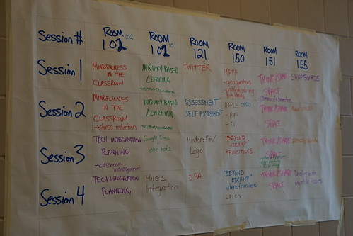 The Session Board at #edCampPTBO