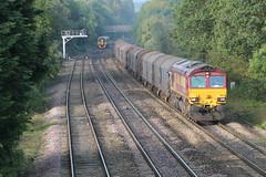 66133 (marcus.45111) Tags: train gm diesel railway freight dbs 2014 sprinter class66 cheltenhamspa 66133 moderntraction
