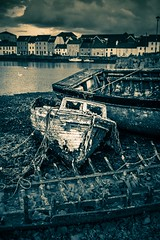 Wreckage (Andrew Gibson.) Tags: ireland bw galway boat shipwreck rotten decrepit blankandwhite sonya77