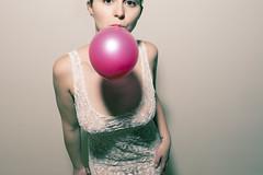 88/365 Happy Birthday Mr. President (Dana Rosu) Tags: birthday pink party portrait woman girl wall marilyn self nikon dress room ballon flash monroe d800 stobe