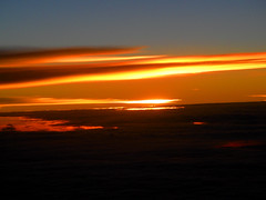 Sunset ca. 11000 m Altitude (betadecay2000) Tags: sunset sun clouds wolke wolken boeing flugzeug flug 11000 hhe stratosphre tropospause