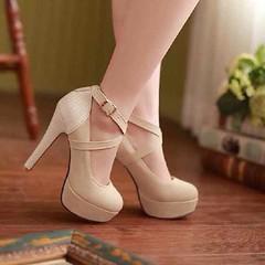 รองเท้าส้นสูง แฟชั่นเกาหลีออกงานสวยหรู นำเข้า ไซส์34ถึง42 พรีออเดอร์RB2035 ราคา1650บาท รองเท้าส้นสูงสวย แฟชั่นเกาหลีผู้หญิงหรูหราหนังกลับด้านหน้าทรงเสริมแพลทฟอร์มยกสูงอินเทรนด์แบรนด์เนมพร้อมสายรัดข้อดูเปรี้ยวเซ็กซี่ ตัวรองเท้าแฟชั่นเป็นส้นสูงหนังกลังสังเค