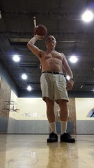 Monte shooting free throws like a boss. 10 5 2014 5:35 AM (Monte Mendoza) Tags: shirtless man guy pits basketball nipple dude uomo hombre homme ua noshirt armpits pecho sanschemise underarms axila sincamisa