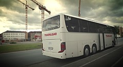 (schlusselbeine) Tags: germany coach nuremberg trafalgar cranes roadsign van