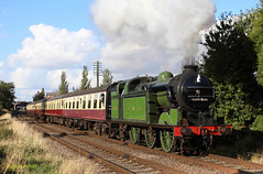 1744 - Charnwood Water - 4/10/14 (Louis.Hurst) Tags: steam steamtrain n2 greatcentralrailway 1744 gcr steamloco charnwoodwater autumngala gcrautumnsteamgala