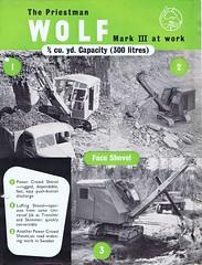 Priestman Wolf Mk 3 c1950 (Runabout63) Tags: wolf machinery brochure excavator earthmoving priestman