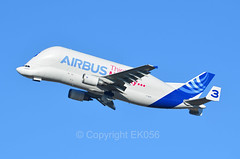 Airbus Transport International Airbus A300F4-608ST Beluga F-GSTC 3 Think Mobility (EK056) Tags: 3 airport think transport international airbus beluga mobility toulouseblagnac fgstc a300f4608st