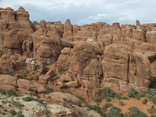 Fiery Furnace east from road Arches National Park