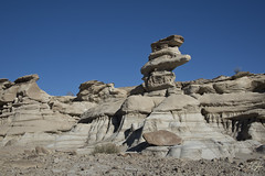 De Na Zin 1 (KGHofSF) Tags: blue light sky sun newmexico weather landscape photography photo rocks afternoon shadows desert bright wind stripes empty dry layers badlands wilderness navajo desolate reservation hoodoos eroded bisti denazin kghofsf