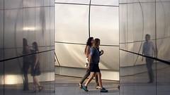 Time Slice ~  MjYj (MjYj ~ IamJ) Tags: world city woman white black paris france texture film contrast soleil pretty solitude time femme bleu eden tones reflets encounters espoir img8331 mjyj mjyj