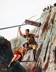 Sergeant Gregory's Escape from Red Chinese Captivity, Stag Cover, October 1960 by Mort Kunstler (Tom Simpson) Tags: illustration vintage escape action rope adventure pulp mensmagazine pulpart mortkunstler mortknstler