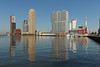 Rijnhaven - Rotterdam (Netherlands) (Meteorry) Tags: morning holland netherlands skyline architecture modern buildings reflections rotterdam europe skyscrapers neworleans nederland thenetherlands august montevideo kpn kopvanzuid paysbas erasmusbrug matin zuidholland waterreflections 2014 southholland meteorry derotterdam torenopzuid rijnhaven posthumalaan réflet hillelaan antoineplatekade tillemakade wilhemlinaplein wilhemlinatoren vandervormplein