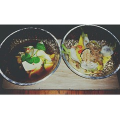 Absurdly beautiful food with wonderful friends with more wine than my liver ever cares to see again. (This is Awkward) Tags: nyc food square foodporn squareformat culinary finedining ironchef tastingmenu diningout iphoneography marcforgione instagramapp uploaded:by=instagram