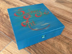 Arty box (Marie Sydney's heART) Tags: blue art painting paint box sydney calligraphy relooking mariesydneysheart