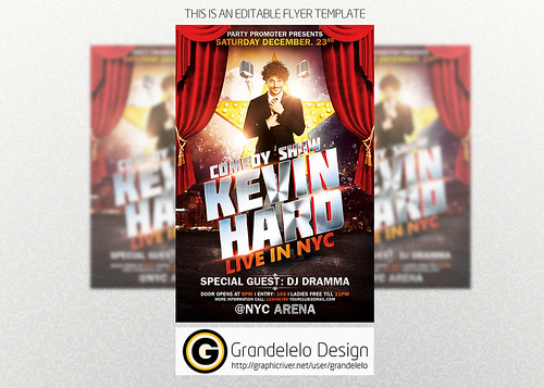 Flickriver Photoset Party Flyer by grandelelo – Comedy Show Flyer Template