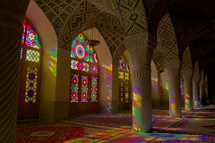 Morning colors (Stefan Schinning) Tags: light glass colors nikon iran persia mosque stained explore shiraz coulours d610 nasirolmolk explored