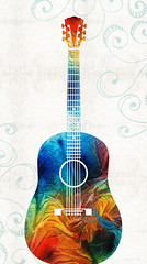 Colorful Guitar Art by Sharon Cummings (BuyAbstractArtPaintingsSharonCummings) Tags: musician music art rock kids children for colorful forsale bluegrass guitar sale folk country guitars blues pop musical rockroll instrument online western buy acoustic theme prints musicalinstrument instruments decor guitarist rockandroll primarycolors guitarplayer musicalinstruments acousticguitar musicstudio acousticguitars musictheme buyprints colorfulguitar musicthemed buyartonline buyguitarprints buyguitarart