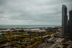 A 7k/night view (aerojad) Tags: chicago skyline fallcolors hilton lakemichigan museumcampus hiltonchicago openhousechicago igerschicago ohc2014 igcohc2014