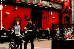 Photoshoot (rosewoodoil) Tags: street ireland red people dublin smile rouge happy pub strada photographer photoshoot couleurs streetphotography 15 400 400views 500views persons 500 20 700 rue rosso 3000 colori 800 couleur 1000 900 800views 700views 1000views dublinpub 15favorites saturatedcolor saturatedcolour 15favourites 3000views 900views 20favorites photographedublin 20favourites