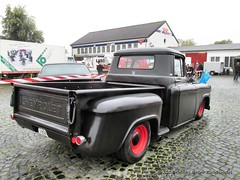 Chevrolet Pickup 1958 - Bochum Franky's Diner_4130_2014-10-05 (linie305) Tags: auto classic cars chevrolet car us automobile meeting diner pickup saisonabschluss vehicles american 1958 vehicle oldtimer autos bochum ruhrgebiet ruhrarea hellweg youngtimer automobil americancar uscar frankys oldtimermeeting castroper worldcars frankysdiner