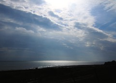 The Sun's kiss on the sea. (gillybooze (David)) Tags: sky weather clouds vista dover ©allrightsreserved