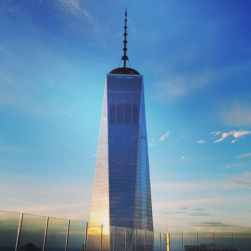 #partywithaview #balcony #WTC #libertytower #sunset #nyc