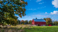 Old Red!! (VNR Photography) Tags: road trees sky ontario canada tree beautiful clouds barn canon outdoors evening afternoon exploring country railway canadian countryroad caledon andrevonnickisch 9058679106 vnrphotography avnrphotogmailcom
