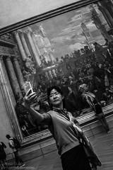 Les Noces de Cana (Teresa Surez) Tags: white black paris art blanco les museum de photography noir louvre negro lisa mona gioconda smartphone leonardo cana blanche delacroix noces iphone selfie verones