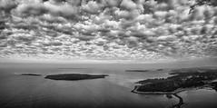 Larkollen - b/w version (kjetilpa - landscape and aerials) Tags: panorama norway norge fisheye stfold larkollen rygge sletter panasonicgh3 sletteryene storesletter tarott960
