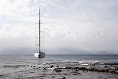 Vue sur Cannes (prenzlauerberg) Tags: france nikon dxo bateau voilier 2014 alpesmaritimes merméditerranée nikoncapturenx îlesaintemarguerite îlesdelérins baiedecannes nikond610 golfedelanapoule