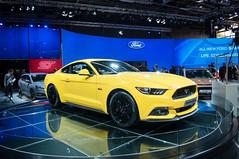 Ford Mustang (francoisjouffroy) Tags: auto orange paris ford car honda jeep tata mini rover ferrari porsche toyota suzuki kia lamborghini peugeot maserati lexus sbarro mondial 2014