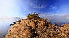 Green Island - Indian Lake (Matt Champlin) Tags: life camping autumn usa ny fall water beautiful canon pano adirondacks panoramic adventure foliage indianlake adk pristine 2014 fall2014