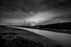 flows on through the night (Dr Kippy) Tags: bw river dusk kidwelly canon400d