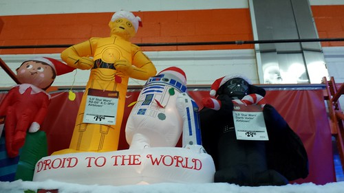 star wars inflatable christmas lawn ornaments at home depot - Star Wars Blow Up Christmas Decorations