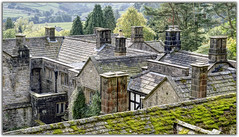 Over the Rooftops (Digital Wanderings) Tags: rooftops chimneys yorkshiredales appletreewick parcevallhall skyreholme