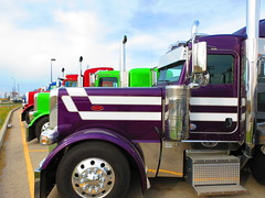 Peterbilt Manitoba (jr-transport) Tags: winnipeg purple vinyl chrome custom mx peterbilt 389 paccar
